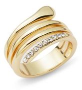 Saks Fifth Avenue Crystal Glinting Ring