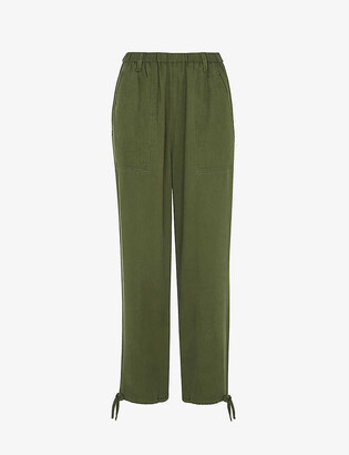 Whistles Cargo washed cotton trousers