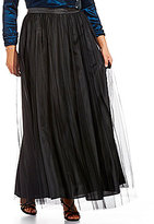 Alex Evenings Plus Long Tulle Ball Skirt