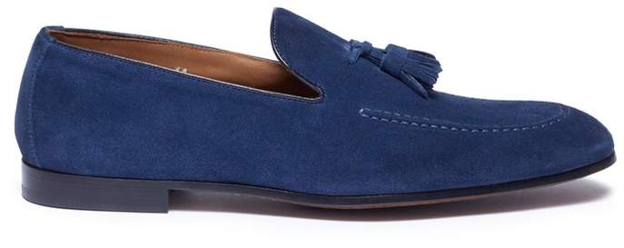 Doucal's 'Diame' tassel suede loafers
