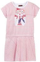 Catimini Girl Graphic Striped Dress (Little Girls & Big Girls)