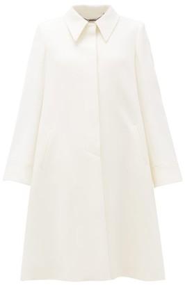 Goat Joplin Point-collar Wool-crepe Coat - Womens - White