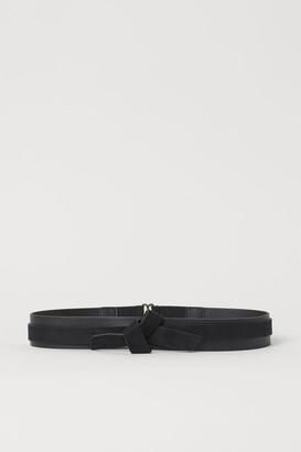 H&M Knot-detail Waist Belt - Black