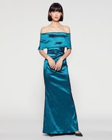 Vince Camuto Foldover Off-the-shoulder Gown