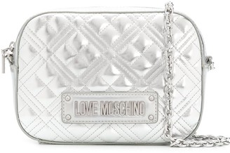 Love Moschino New Shiny quilted crossbody bag