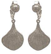 AJ Fashion Jewellery RICARDA Plated Striated Petal Clip On Earrings by VIZ