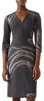 Jigsaw Storm Contours Viola Pencil Dress, Grey