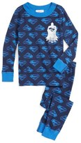 Hanna Andersson Boy's Superman Organic Cotton Fitted Two-Piece Pajamas