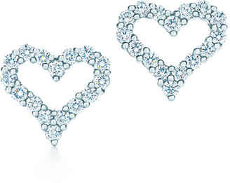 Tiffany & Co. HeartsTM earrings with diamonds in platinum
