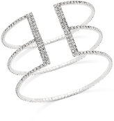 INC International Concepts Silver-Tone Pavé Triple Row Flex Bracelet, Only at Macy's