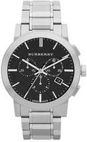 Burberry The City Silvertone Chronograph Watch