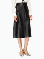 Kate Spade Leather a-line skirt