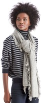 Sole Society Textured Knit Scarf with Fringe