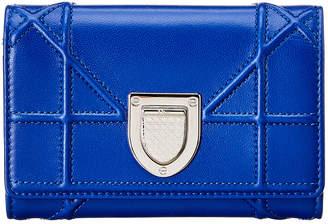 Christian Dior Diorama Leather Tri-Fold Wallet