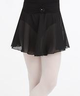 Capezio Black Bow Pull-On Skirt - Toddler & Girls