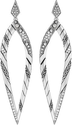 John Hardy 'Lahar' diamond silver drop earrings