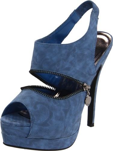 C Label Women's Jocelyn-38 Peep-Toe Pump