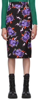 Prada Black Universal Studios Edition Hands Pencil Skirt
