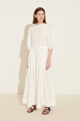 Mansur Gavriel Linen Ruched Tie Dress - White