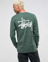 Stussy Long Sleeve T-Shirt With Back Logo