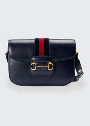 Gucci 1955 Morsetto Small Leather Horsebit Shoulder Bag