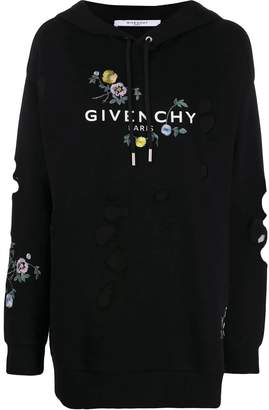 Givenchy distressed floral sweatshirt