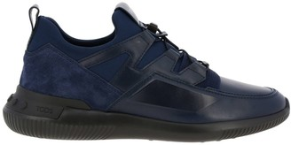 Tod's No Code Active Sport Sneakers In Suede And Neoprene Leather With Elastic Laces