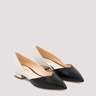 Nicholas Kirkwood Casati D`orsay Leather Flats Shoes