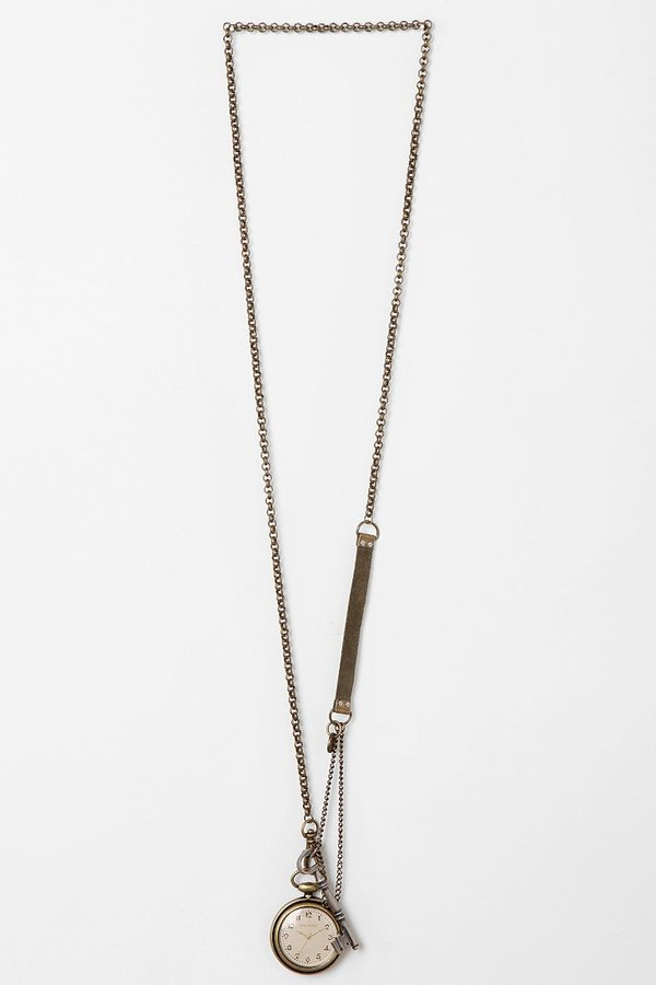 Urban Outfitters TIME By Sonja Nuttall Charm Watch Necklace