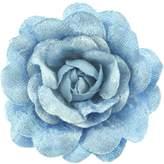 Zac's Alter Ego® Zac's Alter Ego Women's Vintage Style Velour Feel Rose Flower On Brooch Pin Approx. Diameter 7.5Cm, Height 2Cm