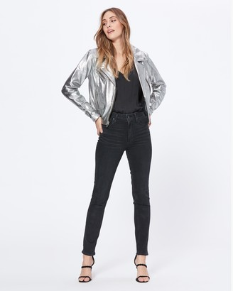 Paige Ashby Jacket-Silver Lamb Leather