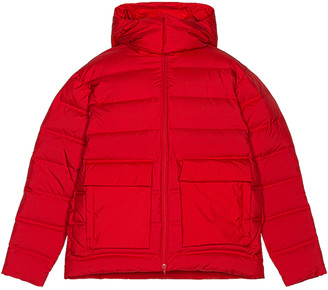 Yohji Yamamoto Puffy Down Jacket in Scarlet | FWRD