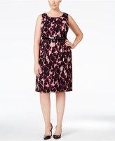 Kasper Plus Size Jacquard Printed Sheath Dress