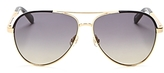 Kate Spade Amarissa Brow Bar Aviator Sunglasses, 58mm