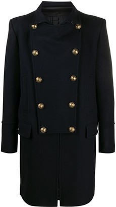 Balmain Double-Breasted Midi Coat