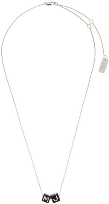 Marc Jacobs Silver The Toy Blocks Pendant Necklace