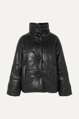 Nanushka Hide Quilted Vegan Leather Jacket - Black