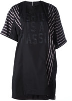 Sacai printed striped T-shirt dress - women - Cotton/Polyester/Cupro - II