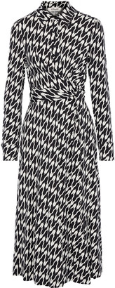 Diane von Furstenberg Sana Draped Printed Stretch-jersey Midi Dress