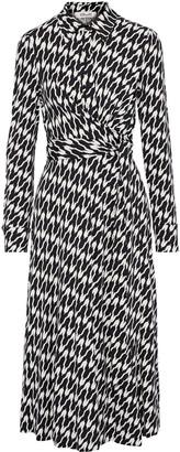 Diane von Furstenberg Sana Wrap-effect Printed Stretch-jersey Midi Dress