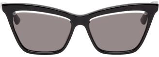McQ Black Iconic Cut-Out Lens Sunglasses