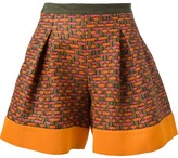 MSGM pleated woven shorts
