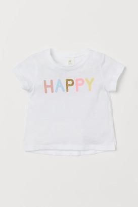H&M Patterned cotton T-shirt