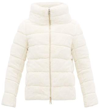 Herno High Neck Down Filled Faux Fur Padded Jacket - Womens - White