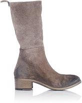 Marsèll Women's Distressed Mid-Calf Boot-GREY