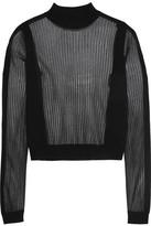 Maison Margiela Paneled Ribbed Wool-blend Sweater - Black