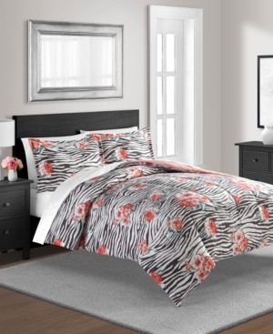Sunham The Exotic Floral Twin Reversible Comforter Set Bedding