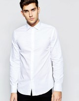 United Colors Of Benetton United Colours Of Benetton Shirt With Cut Away Collar