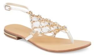 OLIVIA MILLER Crystal Multi Rhinestone Sandals Women's Shoes