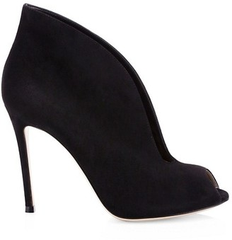Gianvito Rossi Vamp Notched Suede Ankle Boots